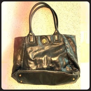 Tory Burch leather black tote